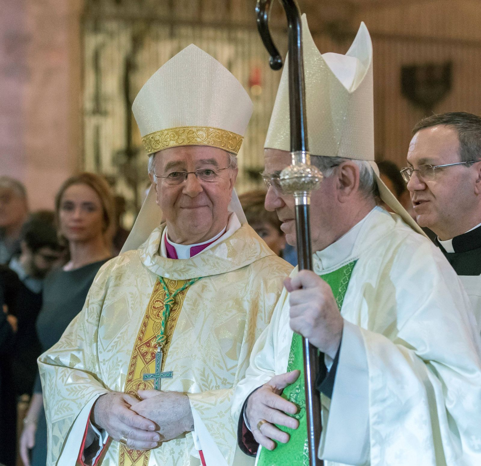 New Bishop of Majorca 69 year old Sebastia Taltavull takes office during a ceremony held in Palma