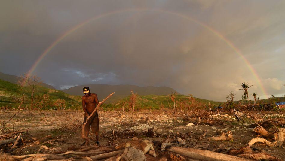 Hurrikanschäden in der Karibik auf Haiti