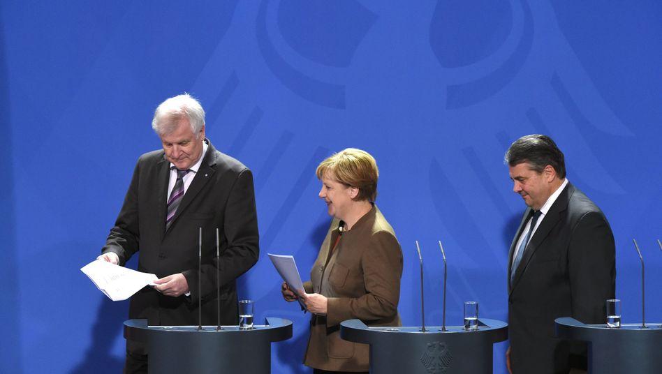 Seehofer, Merkel, Gabriel: Ein echter Kompromiss?