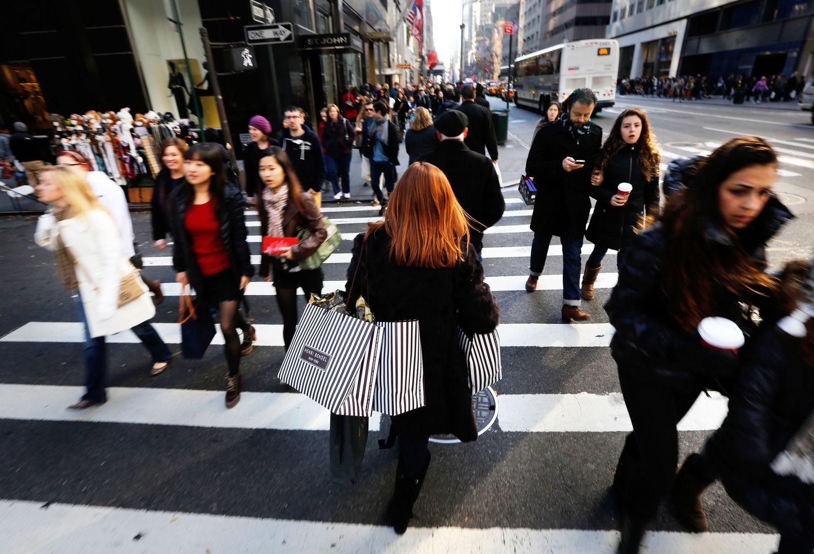 USA / US-Verbraucher / Shopping / Handel / Konsum / KonjunkturShoppen /