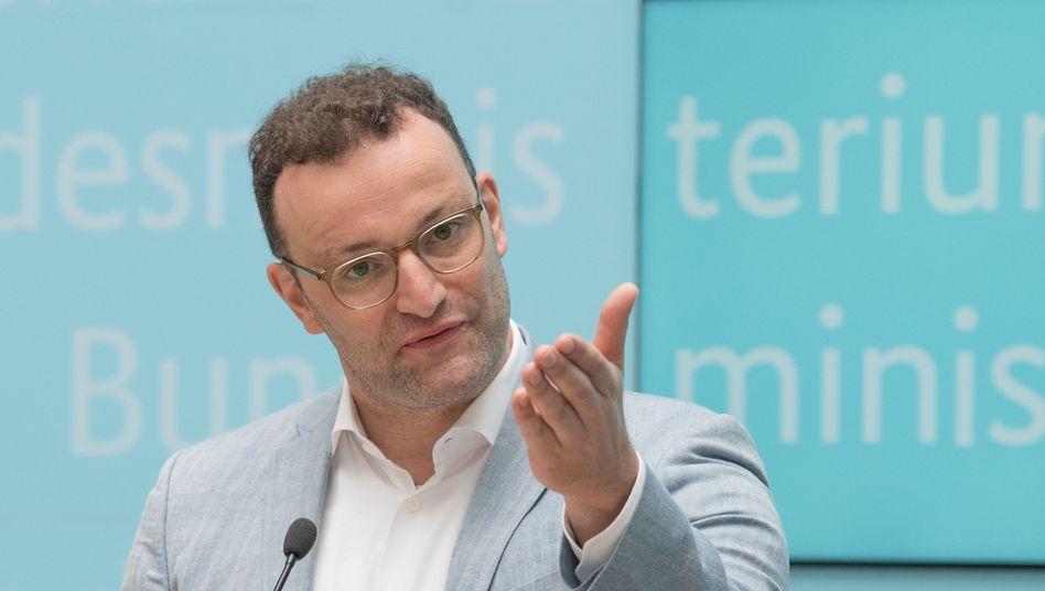 Jens Spahn bei der Vorstellung seines Gesetzentwurfs zur Reform der Notfallversorgung: Lob von der Kanzlerin