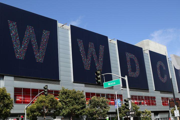 WWDC-Schriftzug in San Francisco
