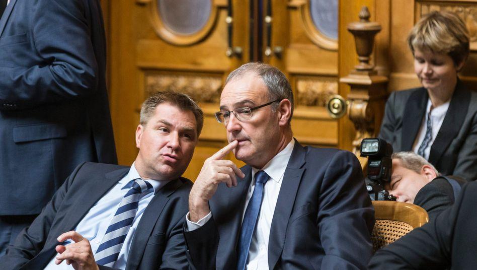 SVP-Politiker Brunner und Parmelin: Rechtspopulisten haben jedes Volk immer ins Elend regiert