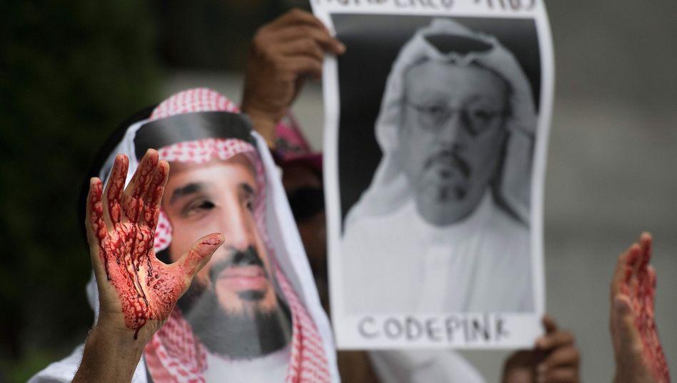 Protest vor der saudi-arabischen Botschaft in Washington