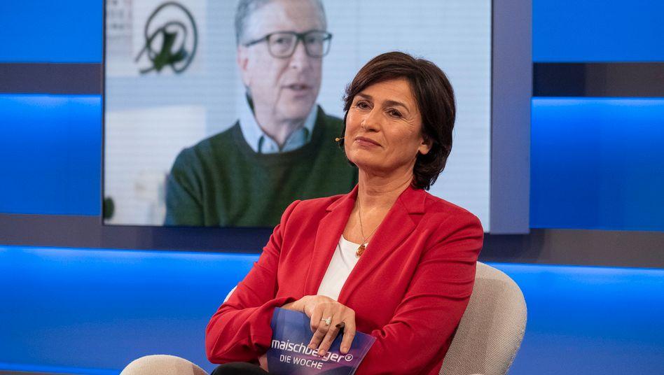 Sandra Maischberger im Videogespräch mit Bill Gates