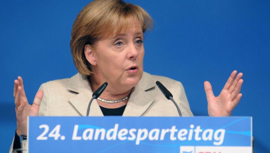 """CDU-Chefin Merkel in Grimmen: """"Da geht die nächste Diskussion los"""""""