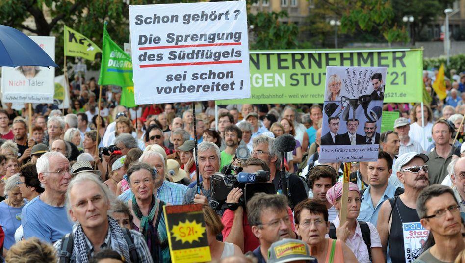 Protest gegen Stuttgart 21: Hätten nur sie abgestimmt, wäre Trittin wohl Bundeskanzler