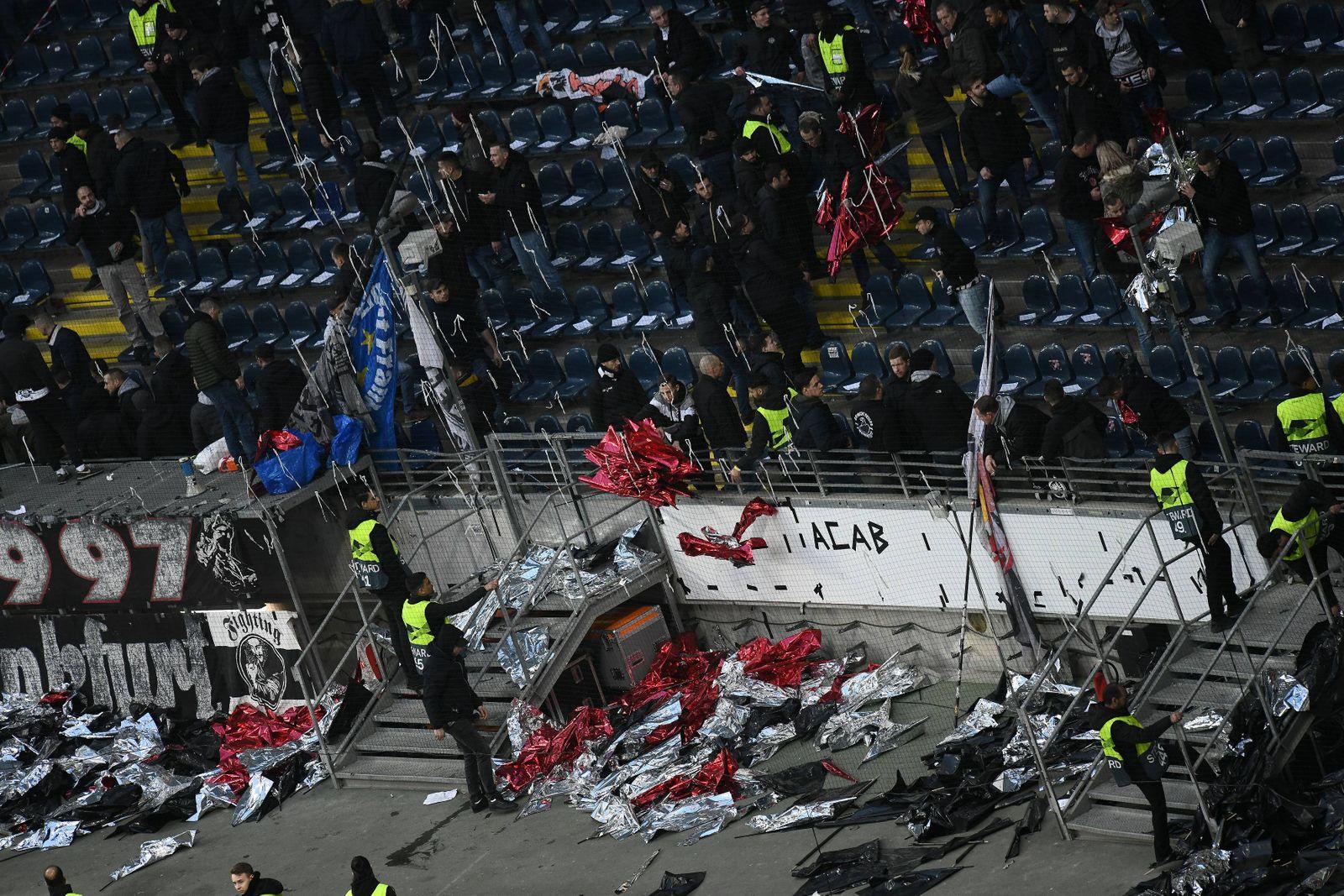 21 02 2019 xmhx Fussball UEFA Europa League Eintracht Frankfurt Schachtar Donezk emspor v l