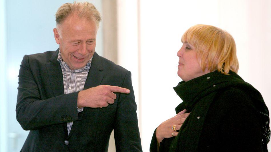 Grüne Trittin, Roth: Können zwei vom linken Flügel die Partei in den Wahlkampf führen?