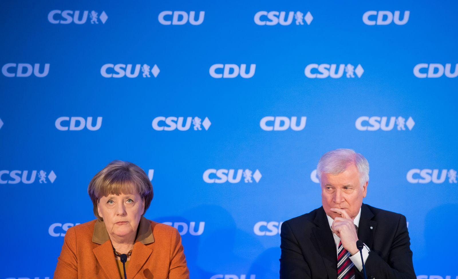 Gemeinsame Pressekonferenz von CSU und CDU