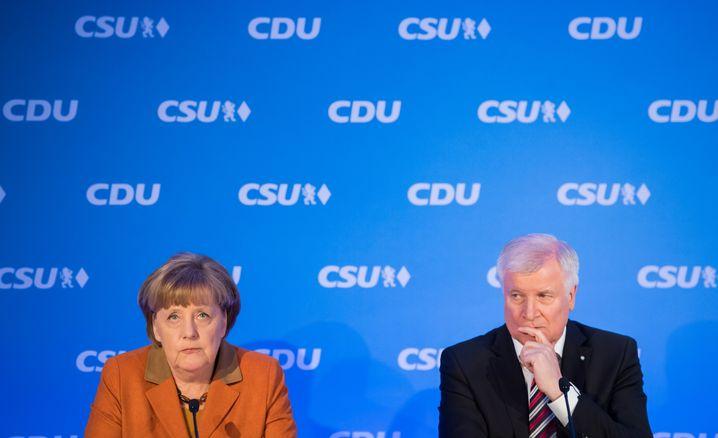 CDU-Chefin Merkel, CSU-Vorsitzender Seehofer