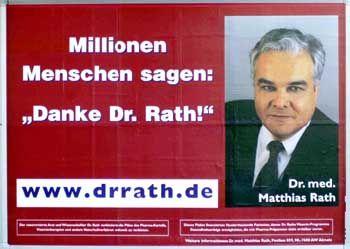 Matthias Rath: Selbstdarstellung des Vitaminpillen-Händlers im August 2000