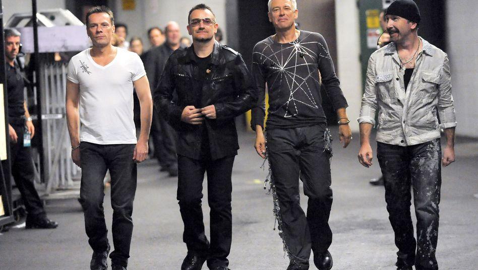 Larry Mullen Jr., Bono, Adam Clayton und The Edge, besser bekannt als U2 (Archivbild)