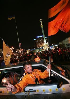 Juschtschenko-Anhänger: Der Oppositionsführer ist Favorit