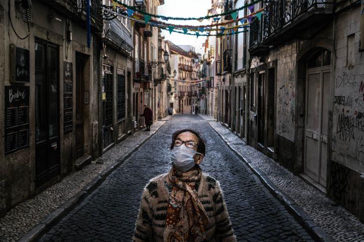 A Lisbon resident in the Barrio Alto neighborhood.