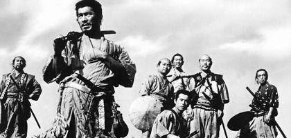 """""""Erfüllung im Sterben"""" - das Ziel unsterblicher Helden (Szene aus Kurosawas """"Sieben Samurai"""")"""