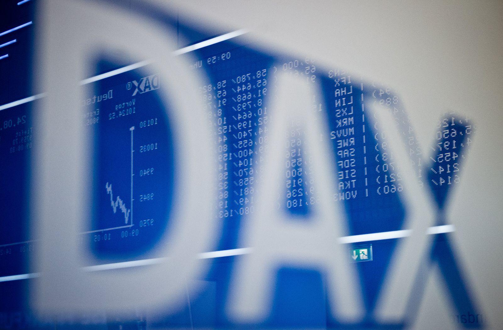 DAX fällt unter 10 000-Punkte-Marke