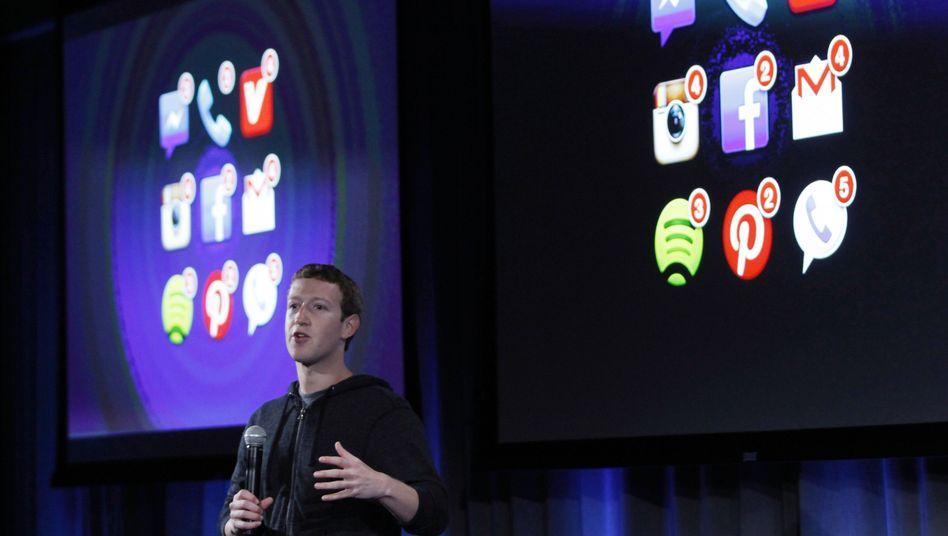 Facebook-Chef Mark Zuckerberg: Der Newsfeed zeigt nicht alles