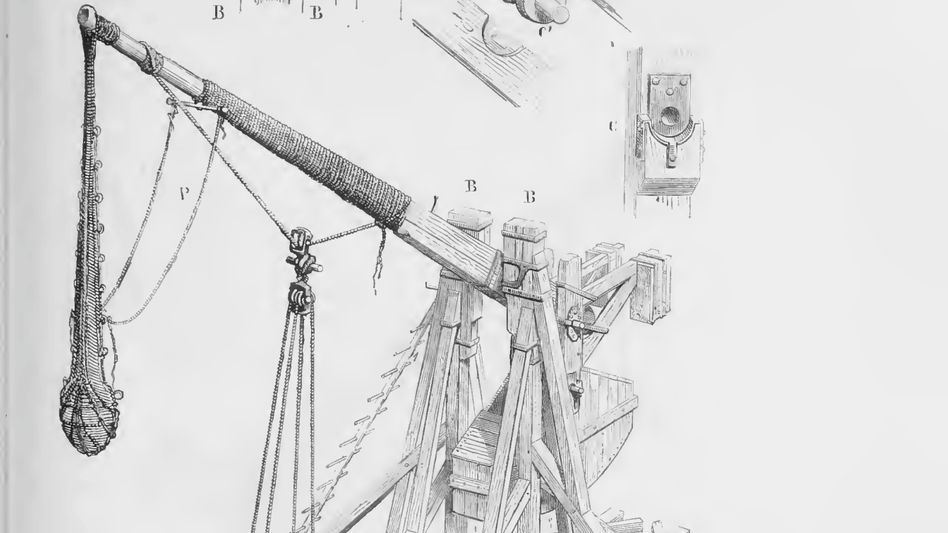 Wuchtig: Die Blide war die präziseste Wurfwaffe der Zeit (Zeichnung von 1873).