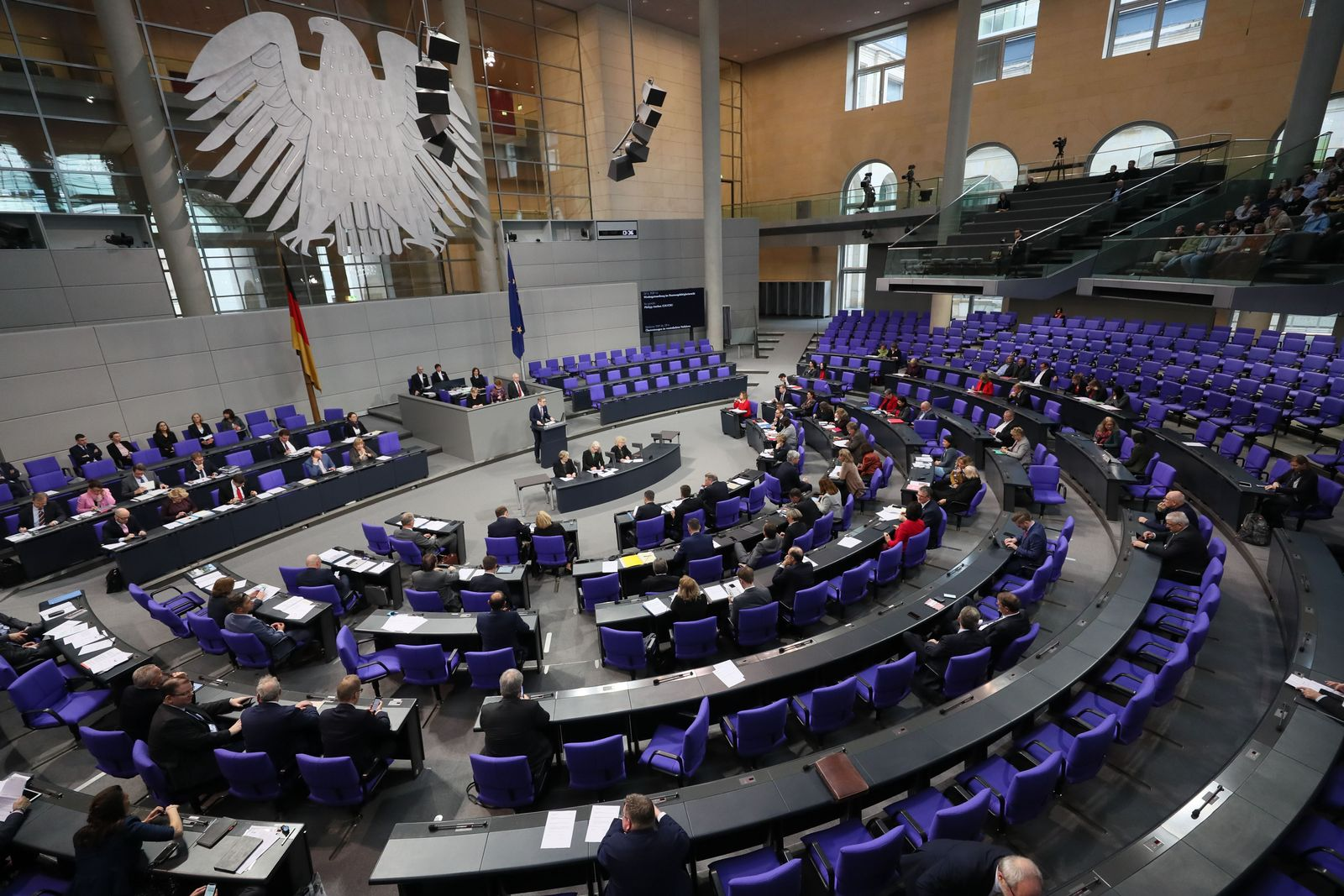 German Bundestag session, Berlin, Germany - 30 Jan 2020