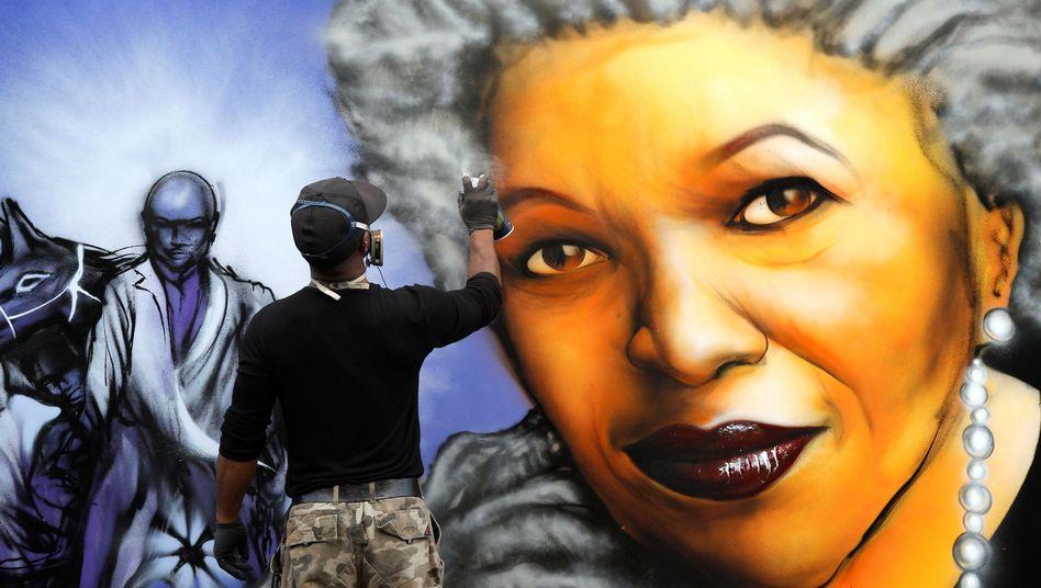 Graffiti-Porträt von Toni Morrison: Ihre Wirkung ist unübersehbar