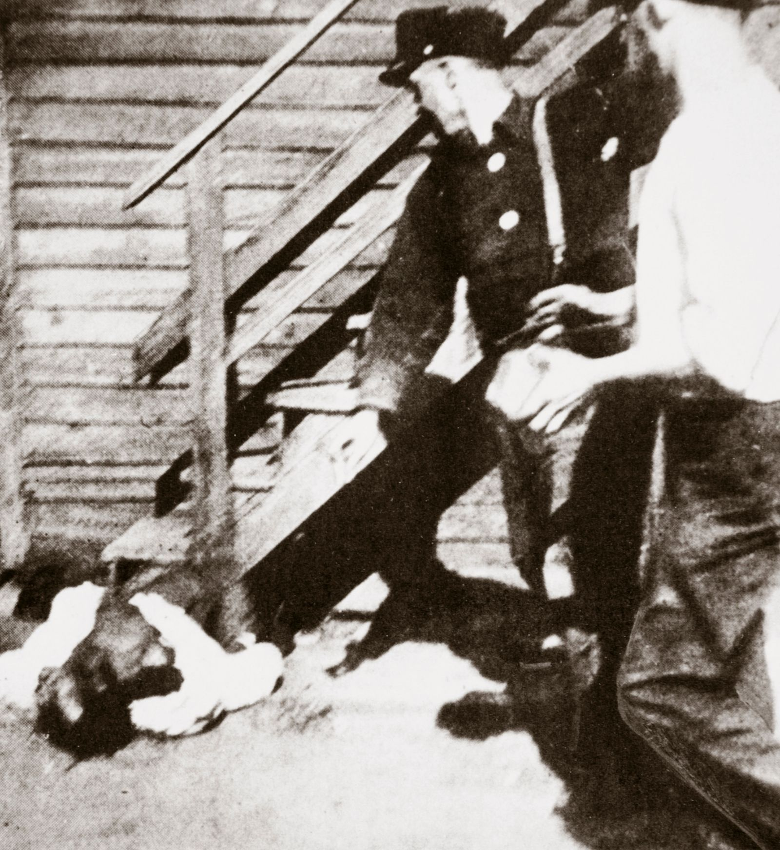 Two White Men Stoning An African American To Death 1919