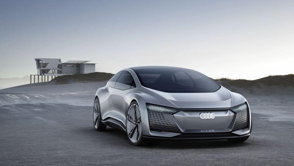 Die auf der IAA präsentierte Studie Aicon wäre der erste Audi, der komplett ohne Lenkrad und Pedale auskommt