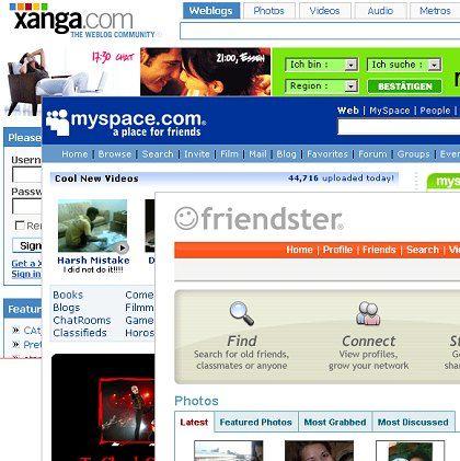 Xanga, Friendster, MySpace: Drei nur zeitweilig erfolgreiche Networking-Dienste?