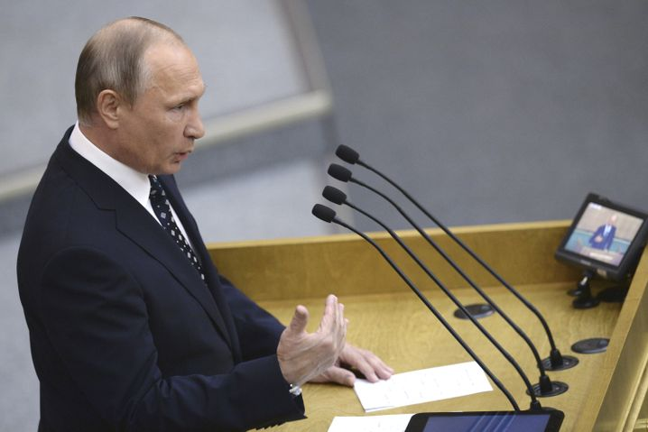 Putin in der Duma