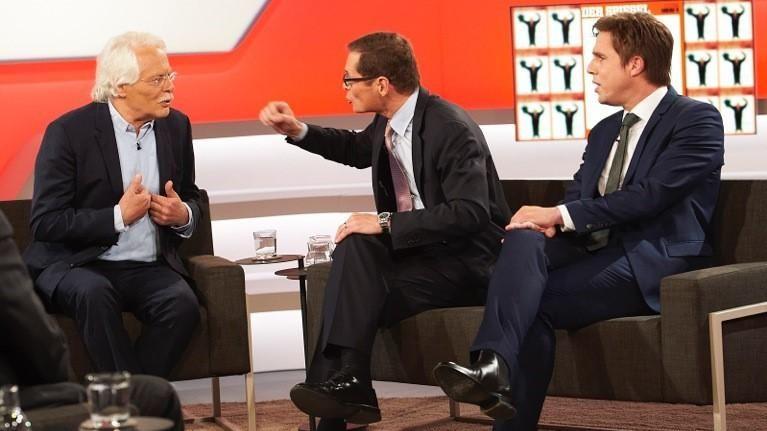 Thomas Roth, Roger Köppel, Markus Feldenkirchen (v.l.)