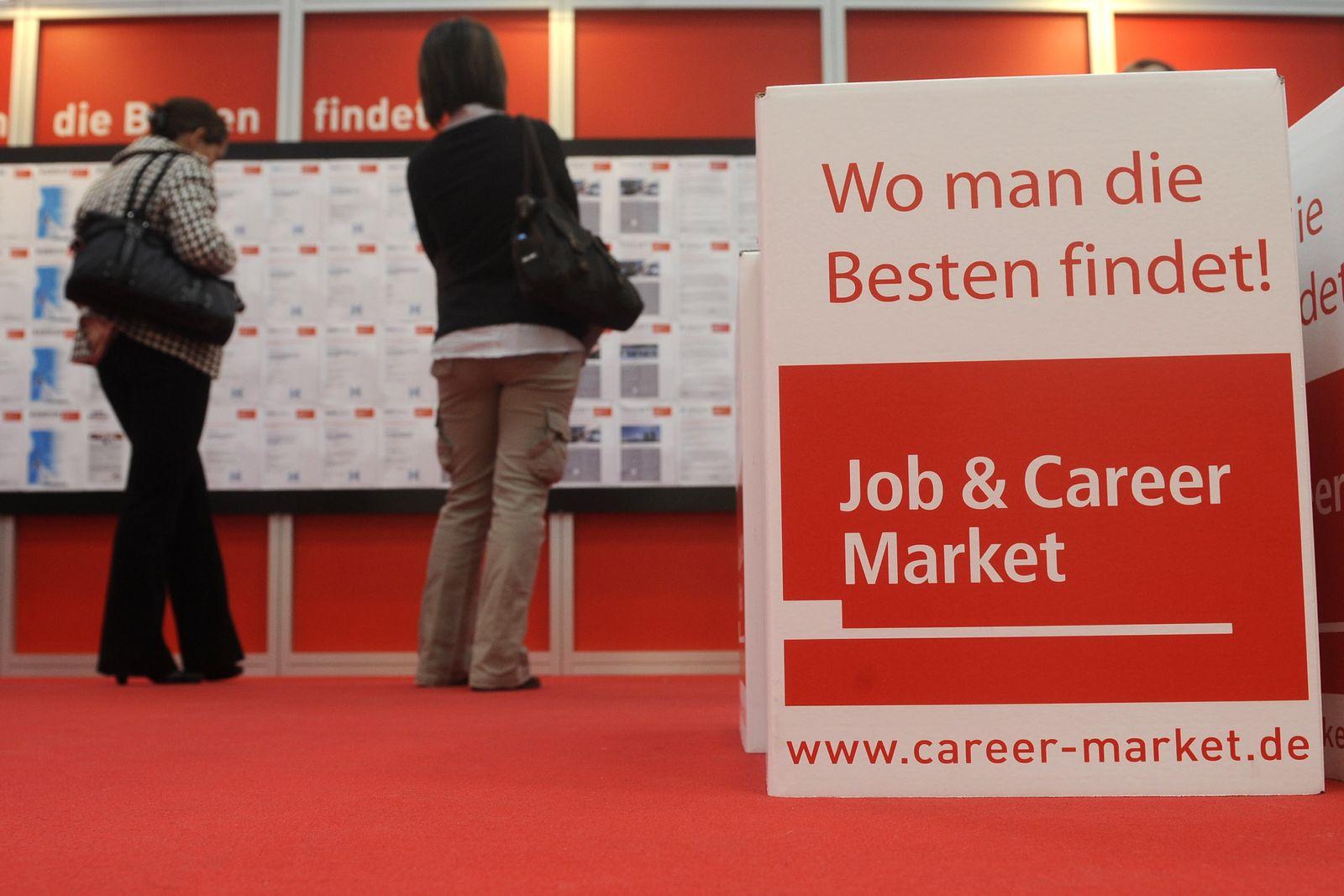 NICHT VERWENDEN Jobmesse / Jobsuche / Arbeitslosigkeit / Arbeitsmarkt