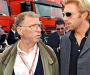 Formel-1-Ausflug: Karl-Heinz und Boris Becker 1998 in Hockenheim