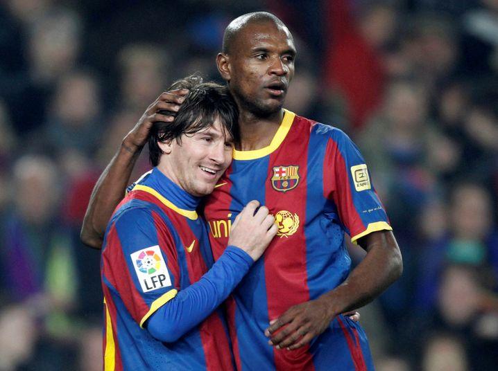 Früher Teamkollegen: Messi (l.) und Barcelonas heutiger Sportdirektor Éric Abidal