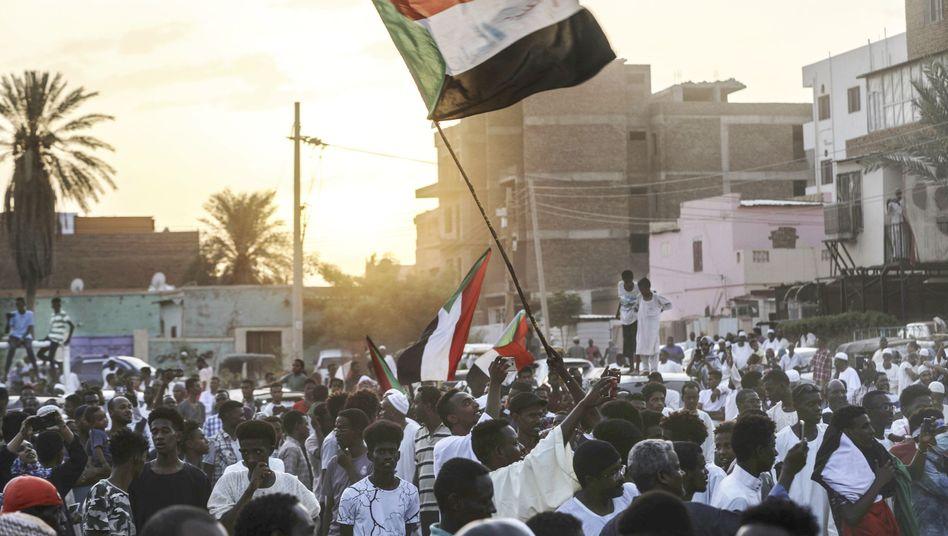 Straßenszene in Sudans Hauptstadt Khartum