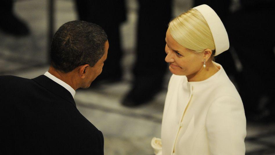 US-Präsident Obama, Kronprinzessin Mette-Marit: Moment für große Gefühle