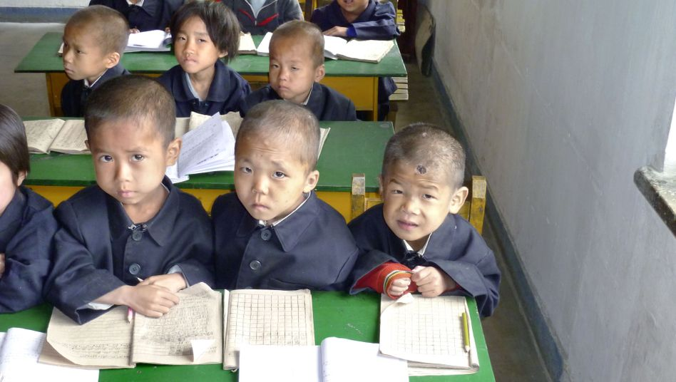 Orphan children in the North Korean city of Haeju. An aid group leader has said sanctions harm the wrong people.