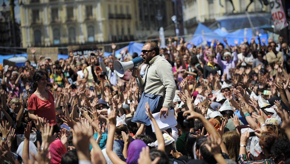 Demonstration in Madrid: Wut auf alle Parteien