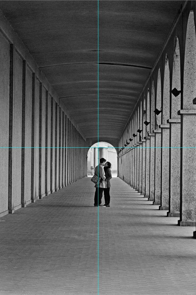 Der richtige Zuschnitt: Nun ist das Paar in die Mitte gerückt, das Bild wirkt runder.