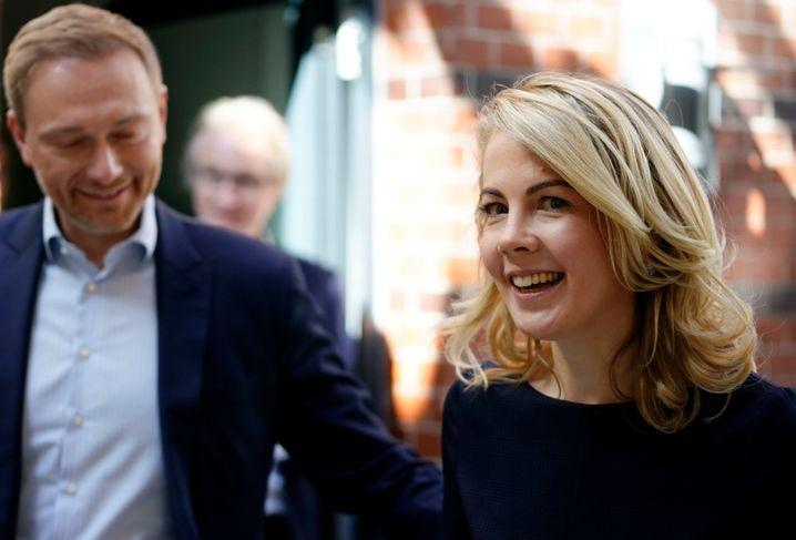 Christian Lindner mit designierter Generalsekretärin Linda Teuteberg