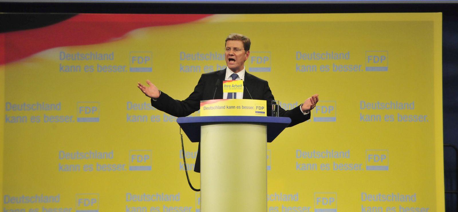 Bundesparteitag der FDP für Koalition mit Union