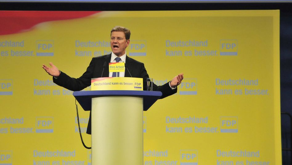 No, we can't: The leader of the Free Democratic Party, Guido Westerwelle, said on Sunday that his party would not be contemplating an alliance with the Social Democrats.