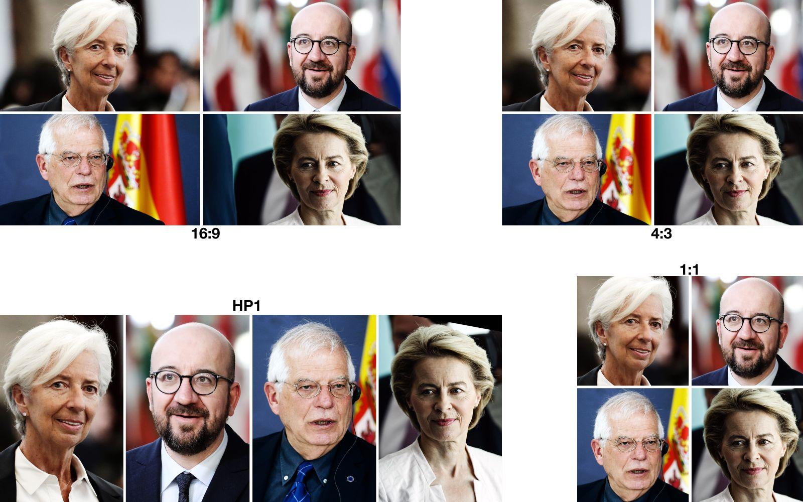 EINMALIGE VERWENDUNG COMBO/ Lagarde/ Michel/ Borrell/ Leyen