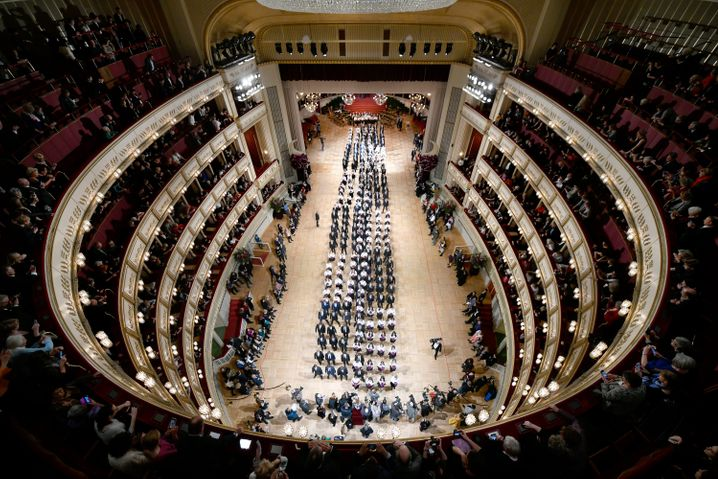 Opernball im Februar 2020 in Wien:Eröffnungswalzer