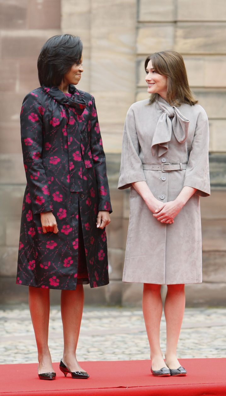 First Ladies Obama (l.) und Bruni: Boykott-Aufruf erhalten