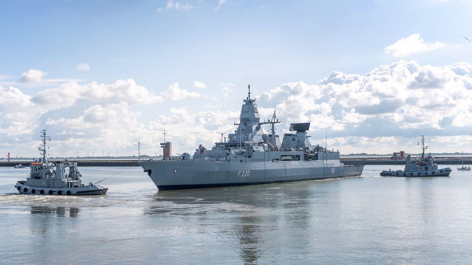 """Fregatte """"Hamburg"""" läuft zum Libyen-Einsatz aus"""