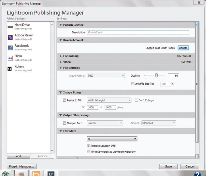 Lightroom-Plugin: Man kann direkt aus der Software zu Koken hochladen