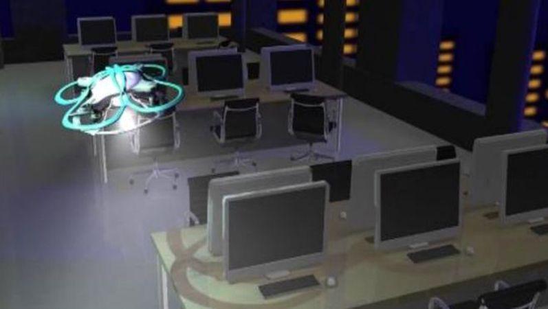 Modell der geplanten Drohne