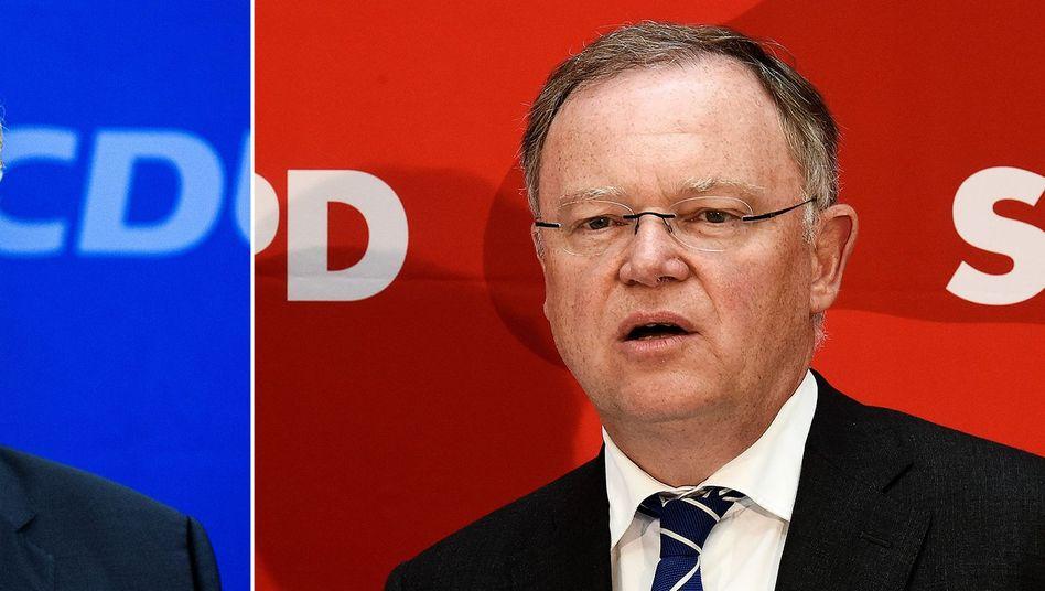 Herausforderer Althusmann, Ministerpräsident Weil