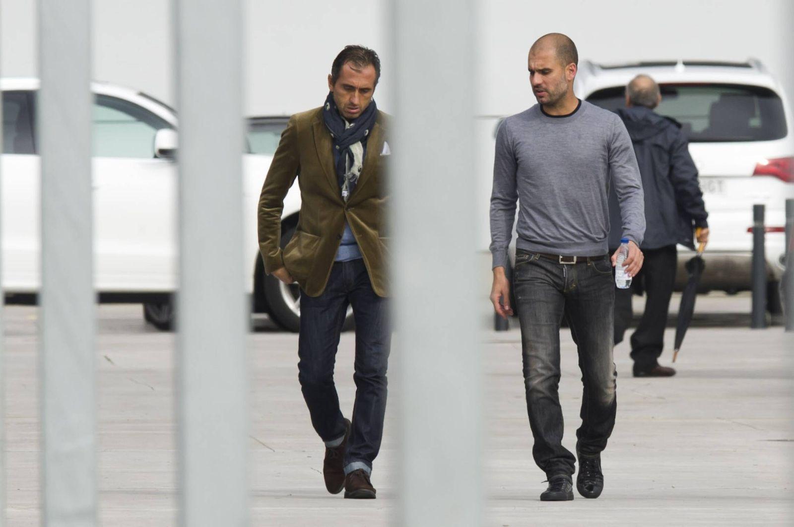 EINMALIGE VERWENDUNG Team von Pep Guardiola / Manel Estiarte