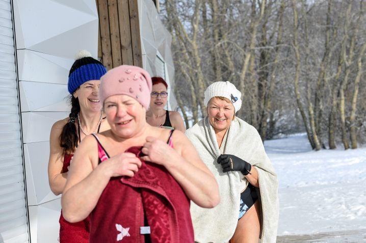 Eisschwimmerinnen